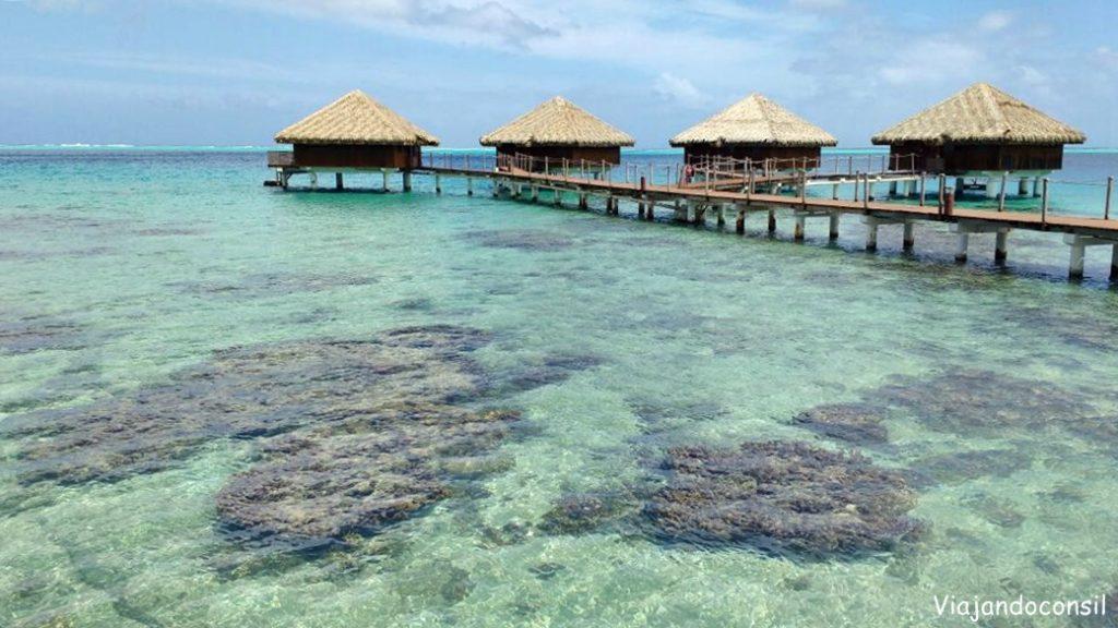 Bungalows sobre el agua hotel Royal Huahine