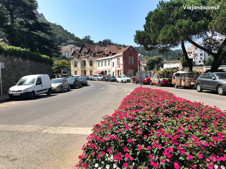 Calle del centro de Sintra