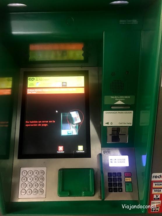 Máquina vendedora de tickets de tren