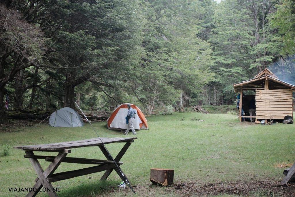 dia de camping Paso El león