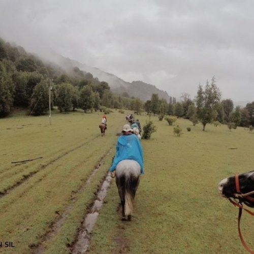 Cabalgata de regreso al Paso El León