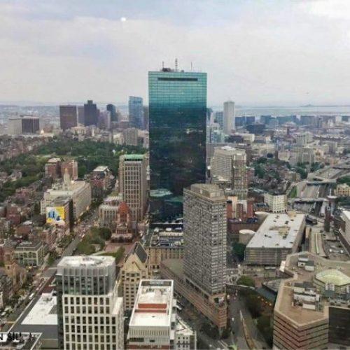 vista de boston desde el pru