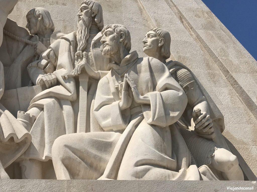 Esculturas del monumento a los descubridores Belem